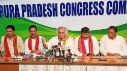 Congress Leaders held Press meet at Congress Bhawan Agartala