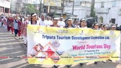 Tourism day rally being held at Agartala on September 27