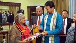 Biplab Kumar Deb meets Bangladesh Prime Minister Saikh Hasina at Delhi