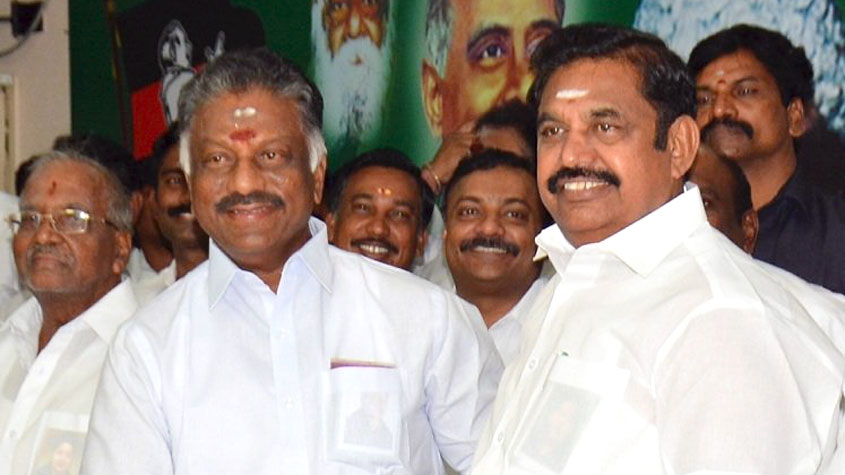 AIADMK factions finally merge, Paneerselvam is Deputy CM | Tripuraindia