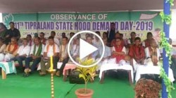 INPT observed 11th Tipraland State hood demand day